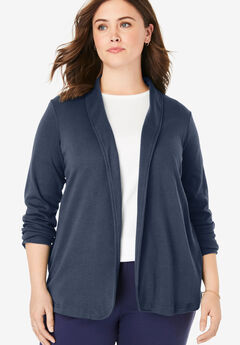 7-Day Knit Jacket, NAVY, hi-res