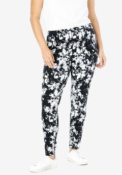 Stretch Cotton Printed Legging, BLACK WHITE TIE DYE