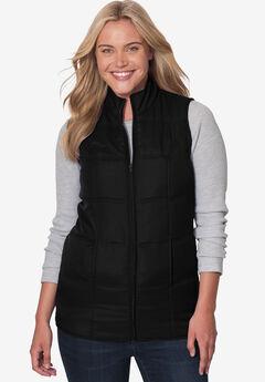 Quilted vest, BLACK, hi-res