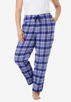 Cotton Flannel Pants by Dreams & Co.®, EVENING BLUE PLAID