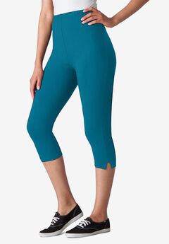 Stretch Cotton Capri Legging, DEEP TEAL