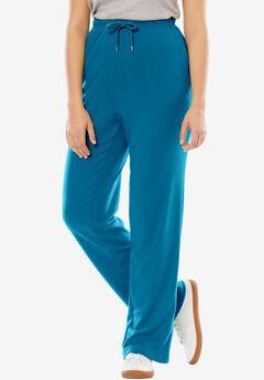 Sport Knit Straight Leg Pant, DEEP SEA BLUE, hi-res