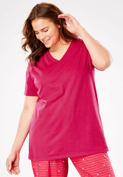V-Neck Sleep Tee by Dreams & Co.®,