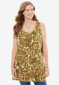 Perfect Pintuck Tunic Tank,