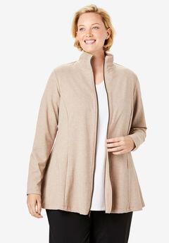 Everywear Essential A-Line Jacket, HEATHER SAND