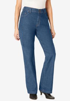 Wide Leg Cotton Jean, MEDIUM STONEWASH