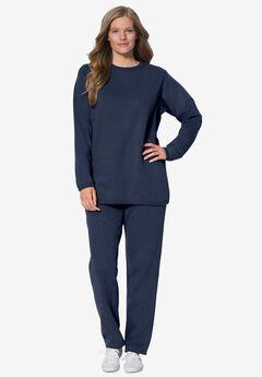 Fleece Sweatsuit, NAVY