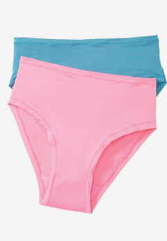 2-Pack Ultra Light High-Cut Brief by Comfort Choice®, PINK LAGOON PACK, hi-res