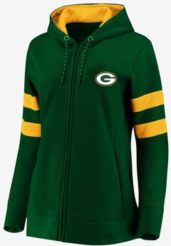 NFL® Long Sleeve Full Zip Fleece with Mesh Trim,