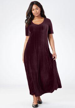 RSVP Ready Velour Dress, MIDNIGHT BERRY, hi-res