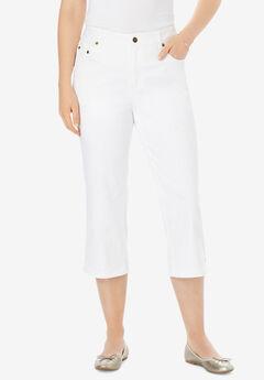 Capri Stretch Jean, WHITE, hi-res