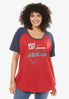MLB High-Low Hem Tee, NATIONALS, hi-res