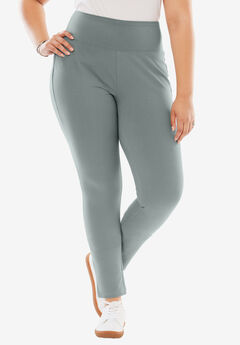 Denim Knit Legging, GUNMETAL, hi-res