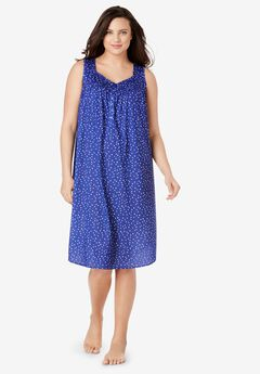 Pintuck Cooling Sleeveless Sleepshirt by Dreams & Co.,