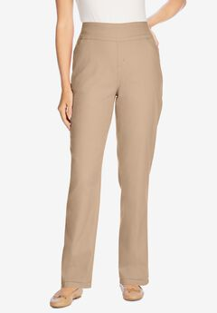 Pull-On Straight Leg Denim, NEW KHAKI