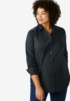 Long sleeve Perfect shirt, BLACK, hi-res
