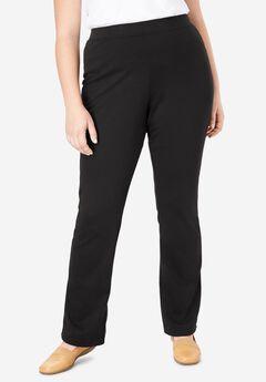 Bootcut Ponte Knit Stretch Pants,