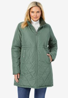 Quilted Downfill Coat,