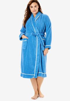 Spa Terry Short Wrap Robe by Dreams & Co.®,