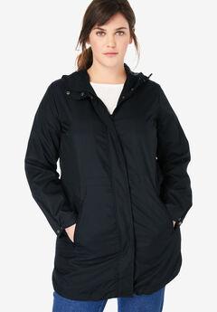 Packable Anorak Raincoat, BLACK, hi-res