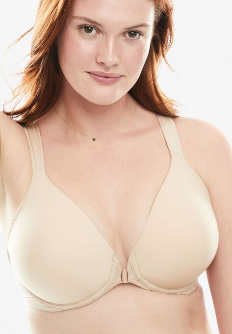 070cc341d6 Front-Close Seamless T-shirt Bra by Leading Lady®