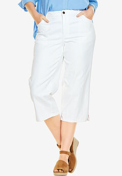 Capri Stretch Jean, WHITE