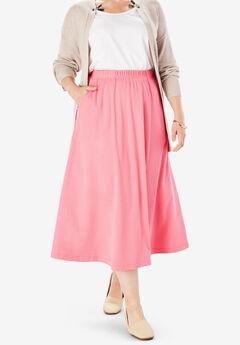 7-Day Knit A-Line Skirt, ROSE MAUVE