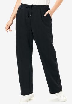 Sweat Pants Easy Fleece, BLACK, hi-res