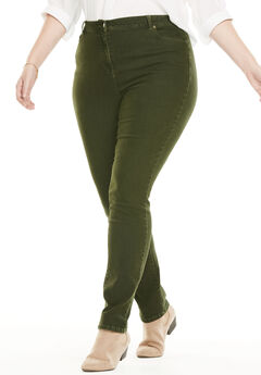 Stretch Skinny Jean, FOREST GREEN
