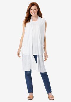Lightweight Linen Vest,