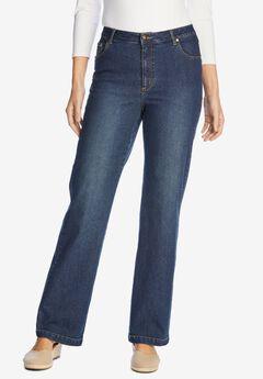 Wide Leg Stretch Jean, MIDNIGHT SANDED