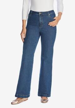 Wide Leg Stretch Jean, MEDIUM STONEWASH