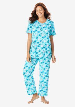 Floral Henley PJ Set by Dreams & Co.®,