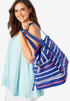 Striped Weekender Bag,