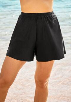 GTKC Womens Swim Shorts Wide Waistband Swimsuit Elastic Boyshorts Beach Bottoms Swimwear