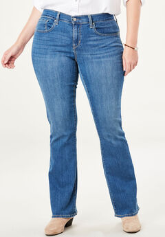 Signature by Levi Strauss & Co.™ Gold Label Womens Plus Curvy Boot Cut Jeans, AURORA