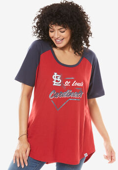 MLB High-Low Hem Tee, CARDINALS, hi-res