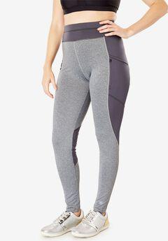 Side-Pocket Fleece-Lined Legging by FullBeauty SPORT®,