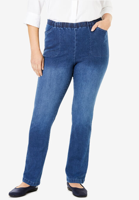 7bdb276ff52 Bootcut Fineline Jean| Plus Size Tall | Woman Within