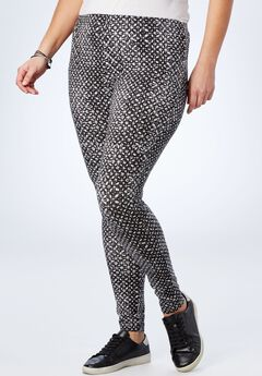 Stretch Cotton Printed Legging,