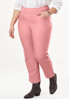 Smooth Waist Capri Jean, DESERT ROSE