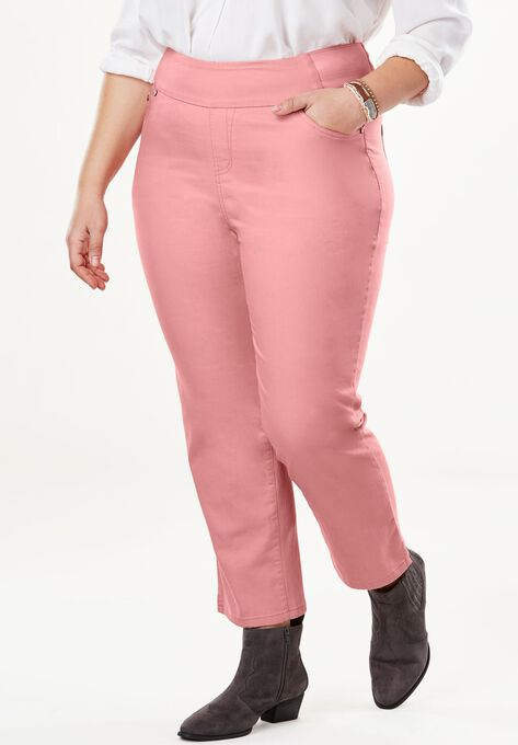 973d4906c404a9 Smooth Waist Capri Jean | Plus Size Bottoms | Woman Within