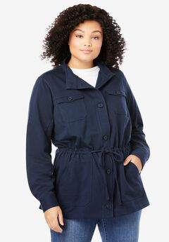 French Terry Utility Jacket,
