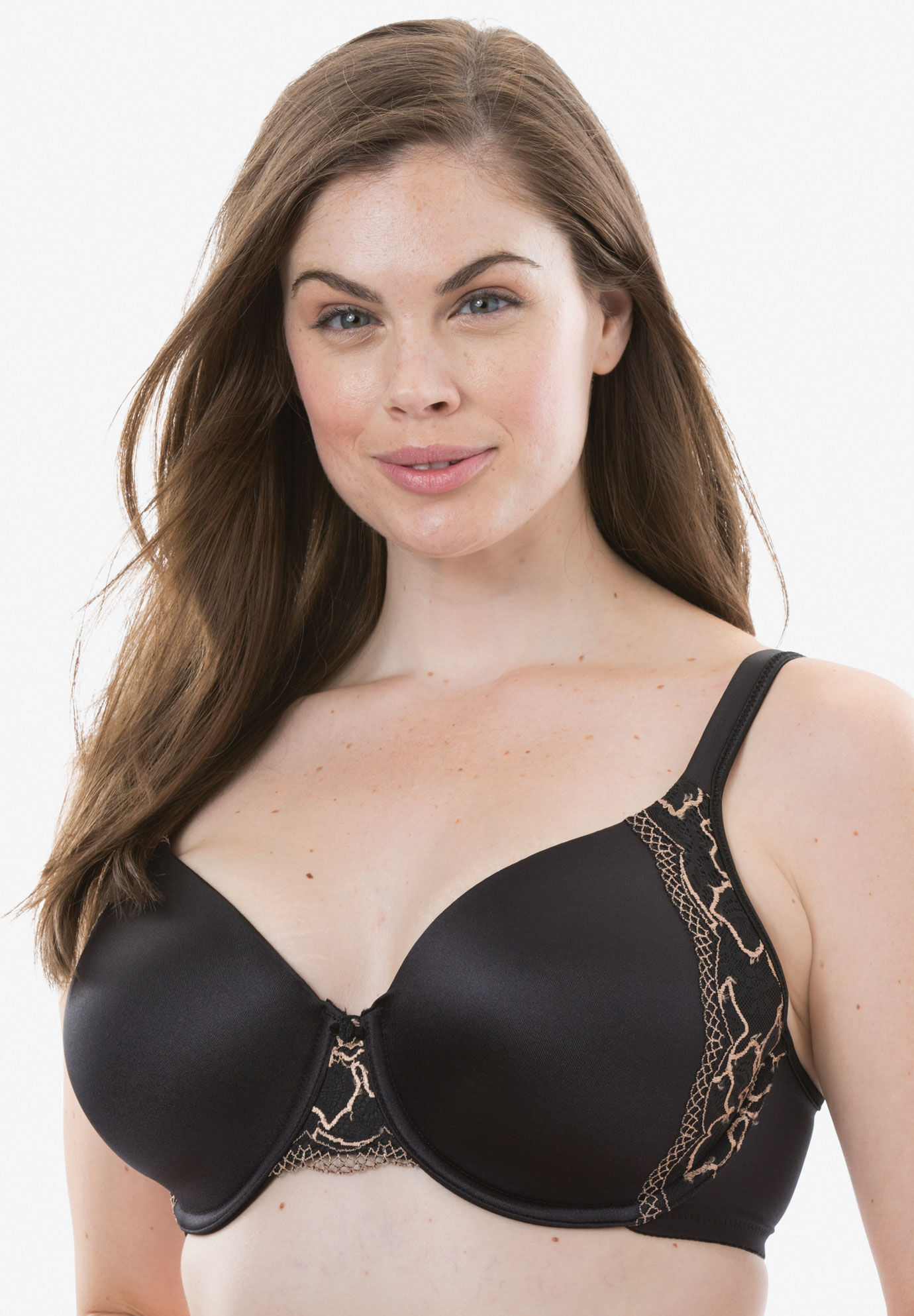 Bali Womens One Smooth U Underwire Bra with Lace Side Support