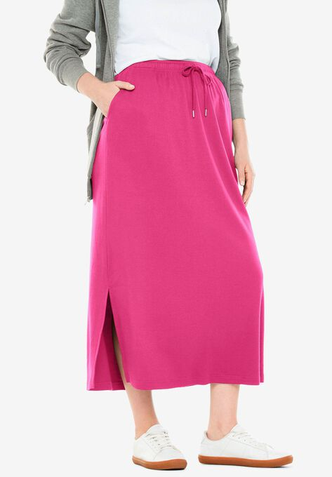 900deb4c29 Sport Knit Side-Slit Skirt  Plus Size Skirts   Woman Within