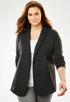 7-Day Knit Jacket, HEATHER CHARCOAL, hi-res