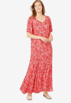 Crinkle Dress, SOFT GERANIUM DITSY FLORAL