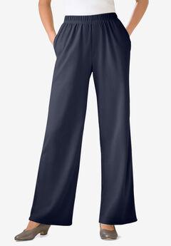 7-Day Knit Wide Leg Pant, NAVY