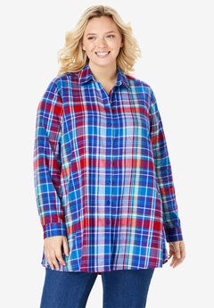 Flannel Tunic, CLASSIC RED PLAID