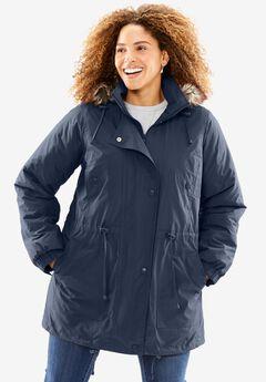 Taslon® Anorak Coat, NAVY